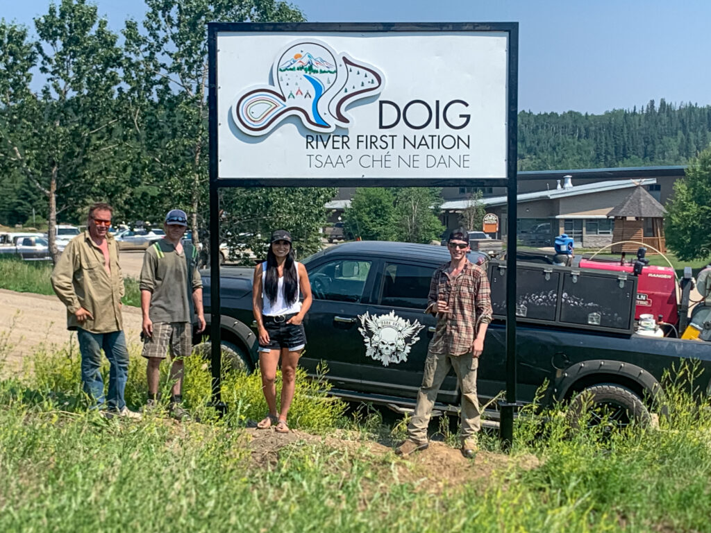 Connecting with the Doig River First Nation community